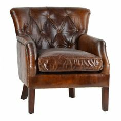 Cranleigh Leather Chair $1,463.00 #thebellacottage #shabbychic