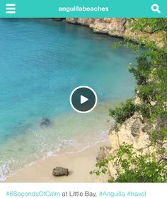 """""""The most hypnotic 6 seconds online."""" Click to play and reeeeelax. #Anguilla, #Caribbean"""