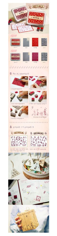 DIY Stamp - Circus [Rubber Stamp With Tin Case]