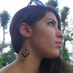 Christmas Sale Beaded Earrings Native Beaded by HeartBeadHeartBead