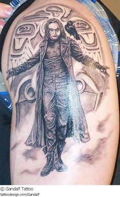 Celebrity Tattoo Portraits :) I love this tattoo just i would change the background to a headstone that said Eric Draven