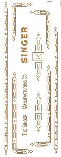 Singer 301 Sewing Machine Restoration Decals Gold Metallic New Style Prism Style - Keeler Sales