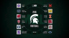 Michigan State Spartans 2016 Football Schedule
