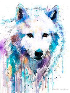 Arctic Wolf Art Print by Slaveika Aladjova Wolf Painting, Painting Prints, Painting & Drawing, Art Prints, Canvas Prints, Watercolor Wolf, Watercolor Animals, Watercolor Paintings, Watercolor Drawing