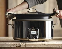 All Clad Deluxe Slow Cooker With Cast Aluminum Insert 7 Qt Http