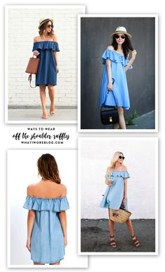 Off the Shoulder Chambray, How to wear off the shoulder dresses