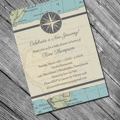 New Journey Invitation Travel Themed Shower or by kreativees