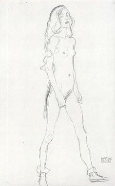 'Suportando Mulher', óleo por Gustav Klimt (1862-1918, Austria)