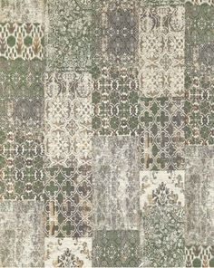 Gínore Patch Deco Olive - 280 x 200 cm - Vloerkleed Green Rug Living Room, Deco, Vintage Wallpaper, Classic Carpets, Vintage Living Room, Classic Interior Design, Interior Design Living Room, Home Interior Design, Green Rug