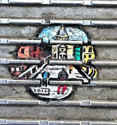 Ben Wilson, also known as The Chewing Gum Man, has painted over 400 mini artworks all across the Millennium Bridge in London. Every morning he went there, got on his belly and started painting his mini works of art on small pieces of chewing gum which were discarded and stepped on, on the bridge.