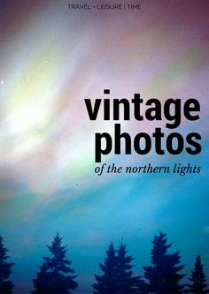 Celebrating the glorious northern lights with a series of color pictures made by…