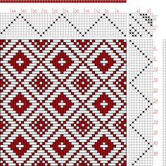Hand Weaving Draft: Feb 1952 No. 27, Master Weaver, 9S, 9T - Handweaving.net Hand Weaving and Draft Archive