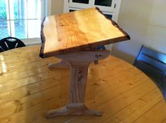 Trestle drawing table - by OregonWoodRat @ LumberJocks.com ~ woodworking community