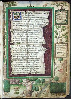petrarch, canzoniere and trionfi, 1470 (printed book with decoration by antonio grifo, biblioteca queriniana, brescia)