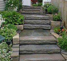 slab stone stairs rock!