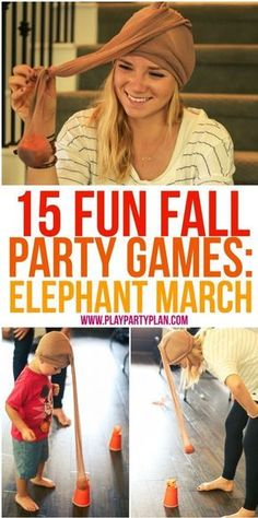 15 fun fall party games that are perfect for every age for kids for adults for teens or even for kindergarten age kids Tons of great minute to win it style games you cou. Fall Party Games, Fall Games, Halloween Party Games, Fete Halloween, Circus Party Games, Halloween Games Adults, Fun Teen Party Games, Christmas Party Games For Adults, Toddler Party Games