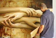 Mexican Omar Ortiz uses human body as main element in its work. His hyper-realistic artwork is surprisingly exquisite.