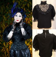 Image of Dark Garden Party Blouse