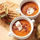 Try the Smoky Lentil Soup with Grown-Up Grilled Cheese Sandwiches Recipe on Williams-Sonoma.com