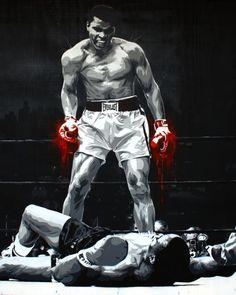 The greatest art of fighting, sports art, black art, muhammad ali boxing, b Boxing Training, Boxing Workout, Boxing Boxing, Boxing Club, Ufc, Boxe Fight, Boxe Mma, Foto Sport, Boxing Posters