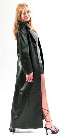 Leather Jacket Dress, Long Leather Coat, Leather Trench Coat, Black Leather, Trent Coat, Leder Outfits, Cute Coats, Maxi Coat, Fall Fashion Outfits