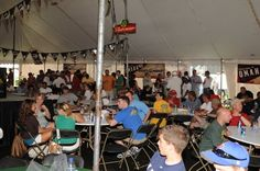 College World Series corporate hospitality tent.