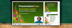 PresentationTube provides a desktop presentation recorder and video sharing network to help instructors, students, virtual presenters, and business professionals record, upload and share quality, accessible, and interactive video presentations. The presentation recorder integrates a variety of visual aids and synchronizes presenter's video, PowerPoint slides, drawing board, and whiteboard.