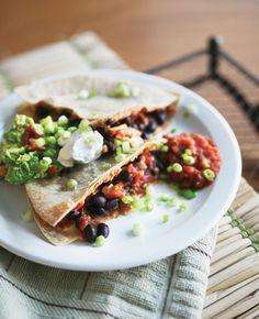 quick black bean quesadilla recipe : gluten-free and vegan
