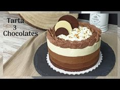 Triple Chocolate Mousse Cake, Cake Youtube, Cheese, Foods, Baking, Videos, Ethnic Recipes, Desserts, Chocolate Mousse Pie