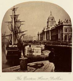 'The Custom House, Dublin' c.1880 after an original of c.1860