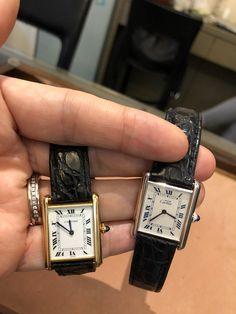Best Looking Watches, Best Watches For Men, Vintage Watches For Men, Fancy Watches, Expensive Watches, Vintage Cartier Watch, Cartier Watches Women, Cartier Tank Solo, Gentleman Watch