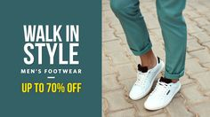 Walk in Style! Buy Men's Shoes and Footwear with 70% OFF !!  #Indianshoppersclub #onlineshopping #onlinesales