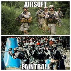 Lets see what you guys like Paintball or Airsoft. #airsoft #paintall