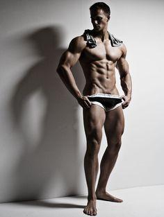Model Tyler Davin-McPeak in C-In2 Zen underwear by Rick Day