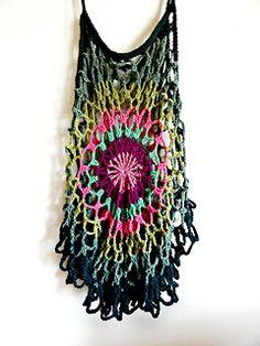 Crochet mandala top pattern