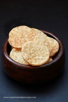 Papdi recipe - A tasty and easy to make snack.  Can also be used for making chaat.  #indianfood #food #recipe #vegetarian