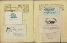 Vintage baby book ideas
