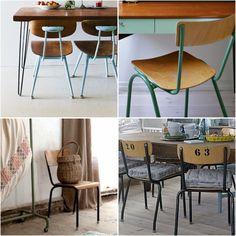 School vintage chairs