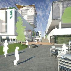 Havainnekuva Tapiolan uudesta keskustasta, valmis 2020