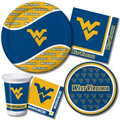 """West Virginia Mountaineers NCAA College University Sports Party 11/"""" Balloons"""