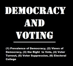 Political Sociology, Politics, Voter Turnout, Right To Vote