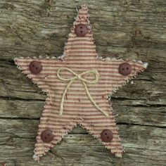 Homemade Primitive Ornaments | Primitive Homespun Christmas Ornaments