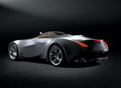 rear view of BMW concept GINA car