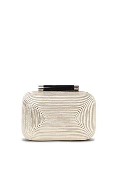 DVF | The small Tonda clutch in light gold is given a female edge with a fine passamentry finish. http://on.dvf.com/13atXNv  #ThePunctuation