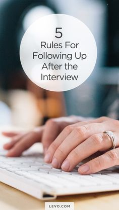 5 Post-Interview Follow-Up Tips #career