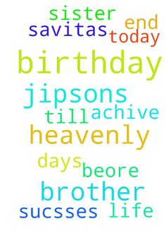 heavenly father ,     My brother jipsons birthday 2 - heavenly father , My brother jipsons birthday 2 days beore and today is my sister savitas birthday , i am praying for them and help them in their life achive all sucsses till the very end. Posted at: https://prayerrequest.com/t/p6N #pray #prayer #request #prayerrequest