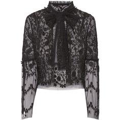 NEEDLE THREAD Primrose Lace Bolero Jacket ❤ liked on Polyvore featuring outerwear, jackets, light weight jacket, layered jacket, bolero jackets, lace bolero and lace jacket