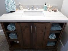 Guest bath vanity with a Macabus granite countertop Custom Countertops, Granite Countertops, Kitchen And Bath Remodeling, Bath Vanities, Guest Bath, Lake City, Bathrooms, Salt, Vanity