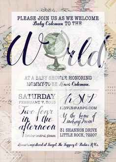 Welcome to the World Baby Shower Invitation by LittlePebblePaper