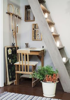 Decor, Room, House, Interior Decorating, Interior, City Apartment, Apartment, Ladder Decor, Home Decor